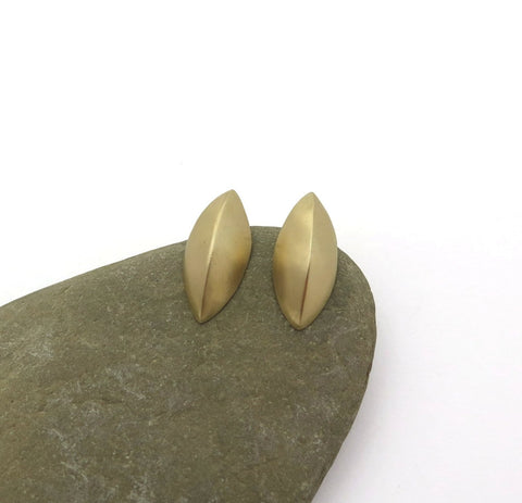 14k gold leaf earrings