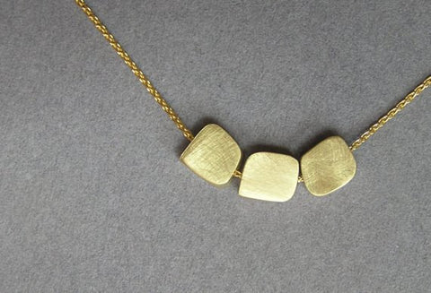 14k gold cubes necklace solid gold jewelry dalia shamir jewelry dainty 14k gold necklace pendant aloadofball Image collections