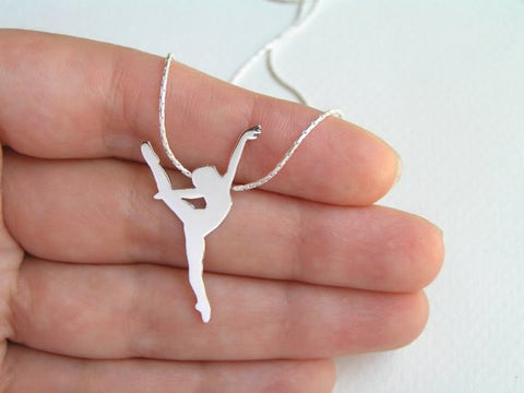 sterling silver dancer necklace