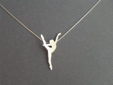 Dancer necklace sterling silver ballerina necklace dalia sterling silver dancer pendant necklace mozeypictures Image collections