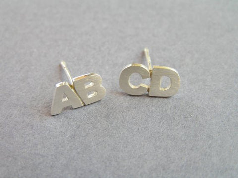 two letters earrings personalized jewelry