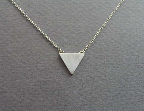 sterling silver triangle pendant necklace