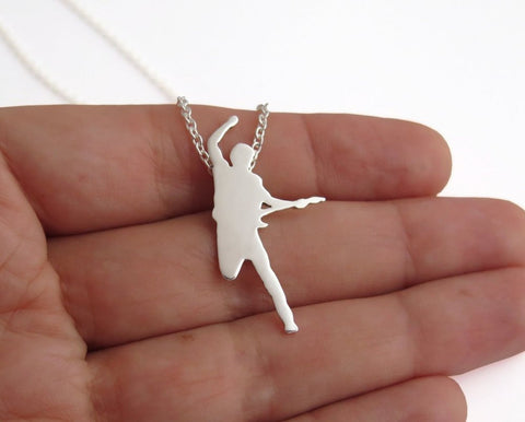 bruce springsteen necklace sterling silver