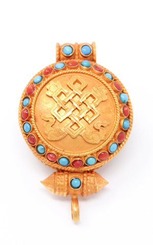 Gold Plated Endless Knot Locket