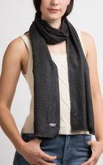 The Little Tibet Grey Cashmere Skinny Scarf