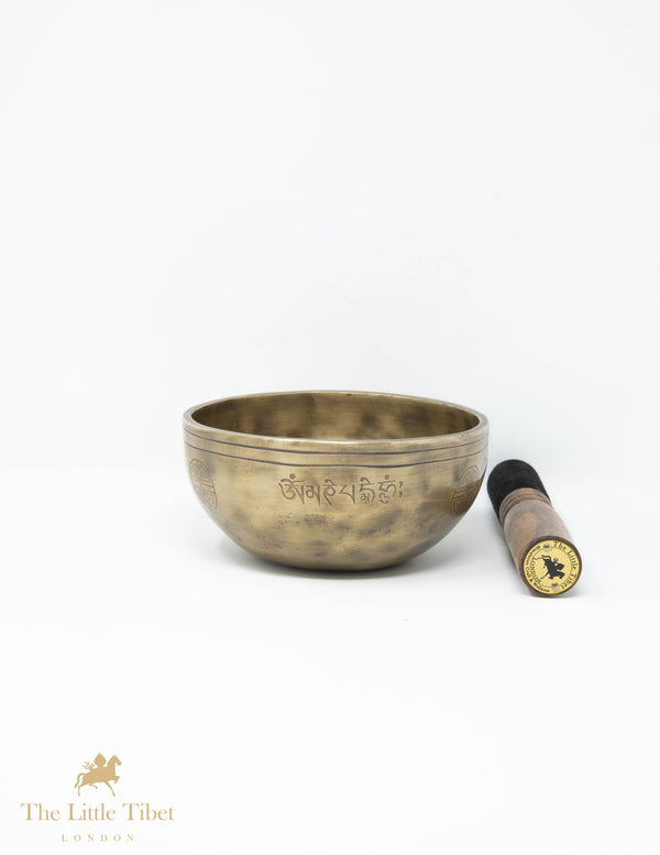 Full Moon Tibetan Singing Bowl for Healing - Sound therapy bowl- Himalayan bowl for yoga, meditation, sound therapy, chakra healing, The Little Tibet