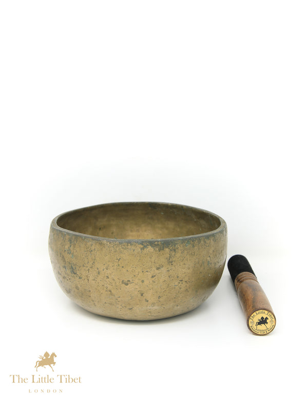 Antique Tibetan Singing Bowl-Healing Bowl-Himalayan Bowl for Meditation-ATQ33 - The Little Tibet