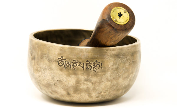 Tibetan Singing Bowl, full moon bowl