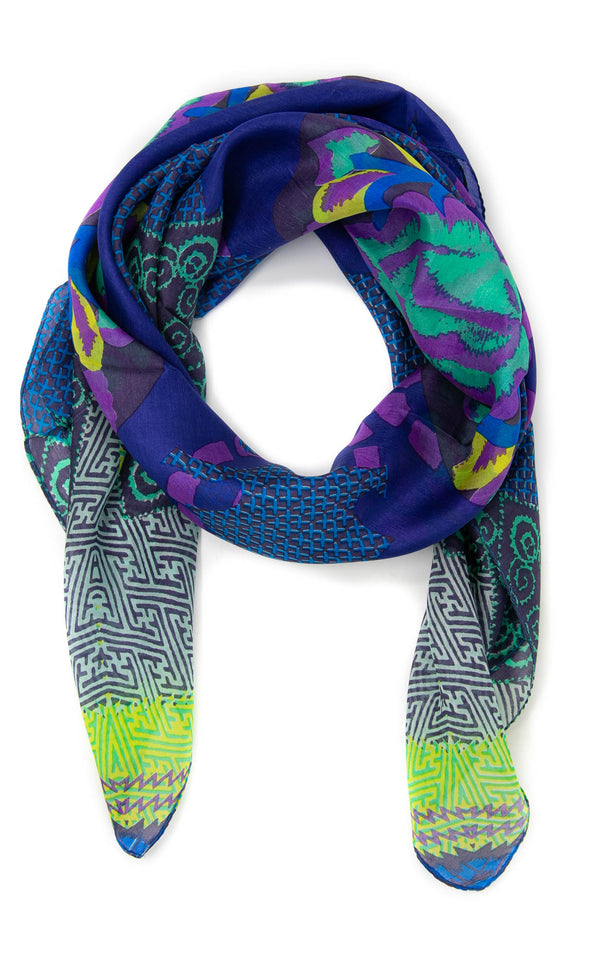 Wilhelmina square silk scarf-SQ202