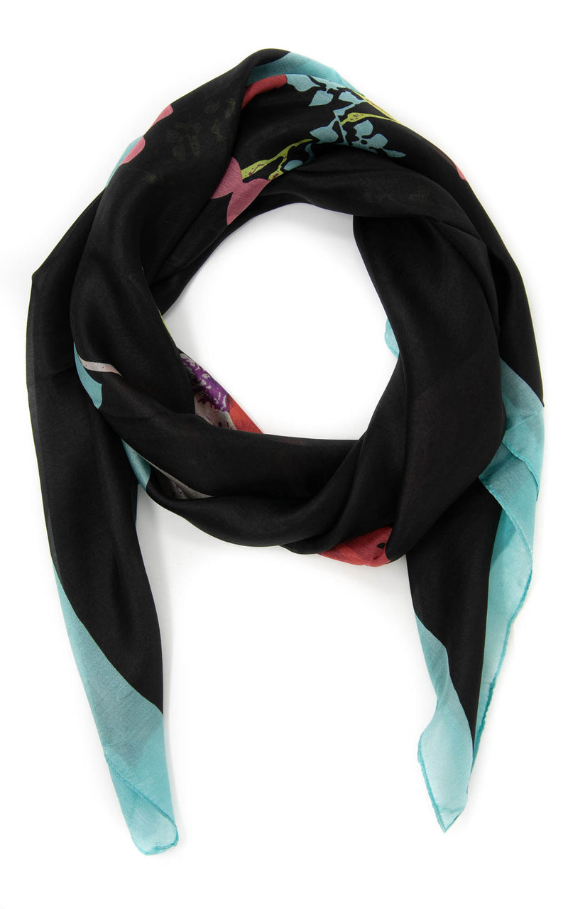 Victoria square silk scarf-SQ203. The Little Tibet