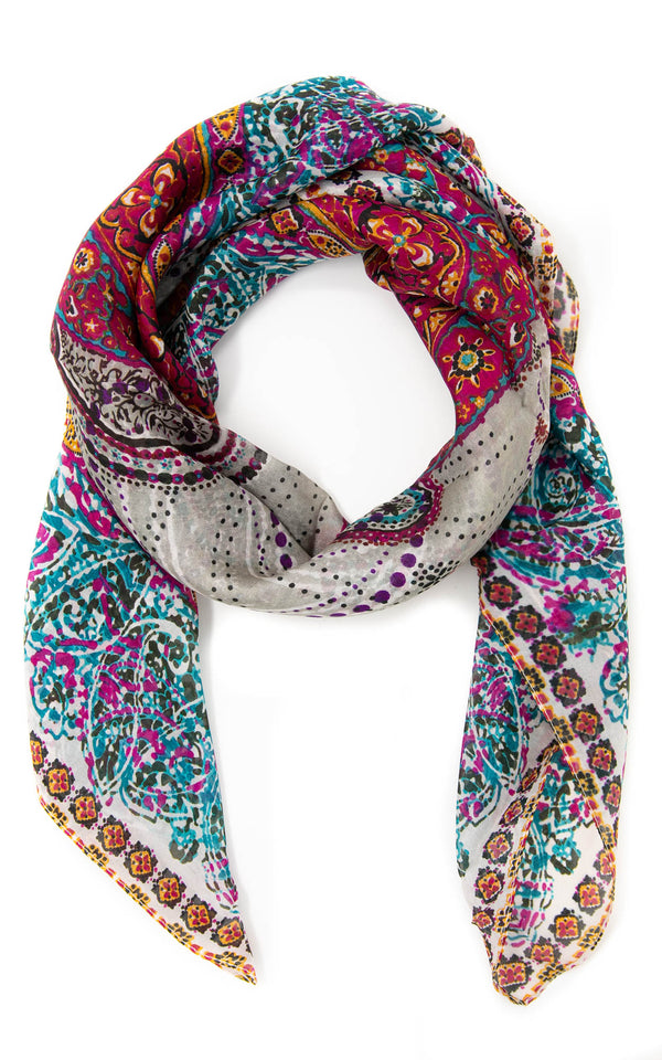 Ursula square silk scarf-SQ204