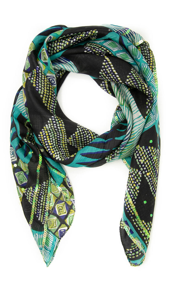 Selina square silk scarf-SQ206, The Little Tibet