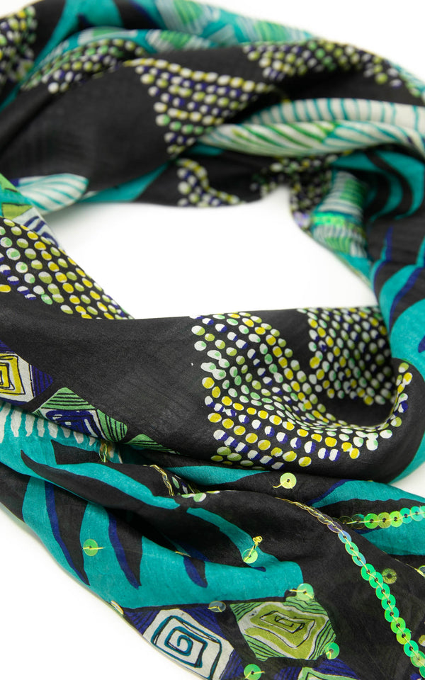 Selina square silk scarf-SQ206