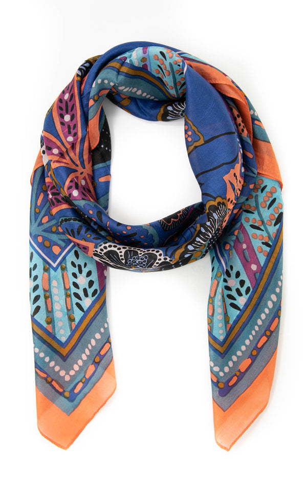 Henrietta square silk scarf -SQ208, The Little Tibet