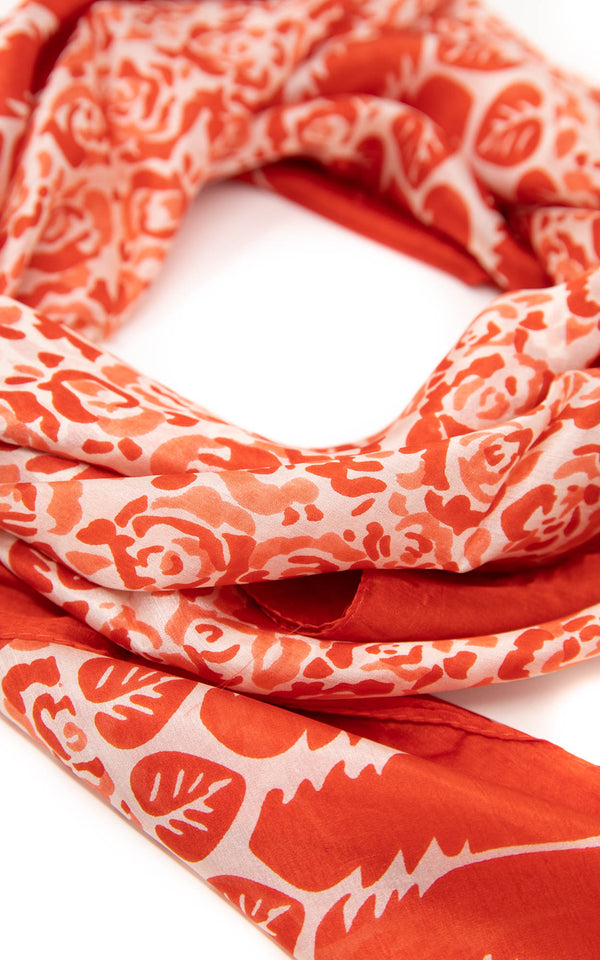 Eveline square silk scarf-SQ2010