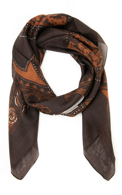 Ethel square silk scarf -SQ2011, The Little Tibet
