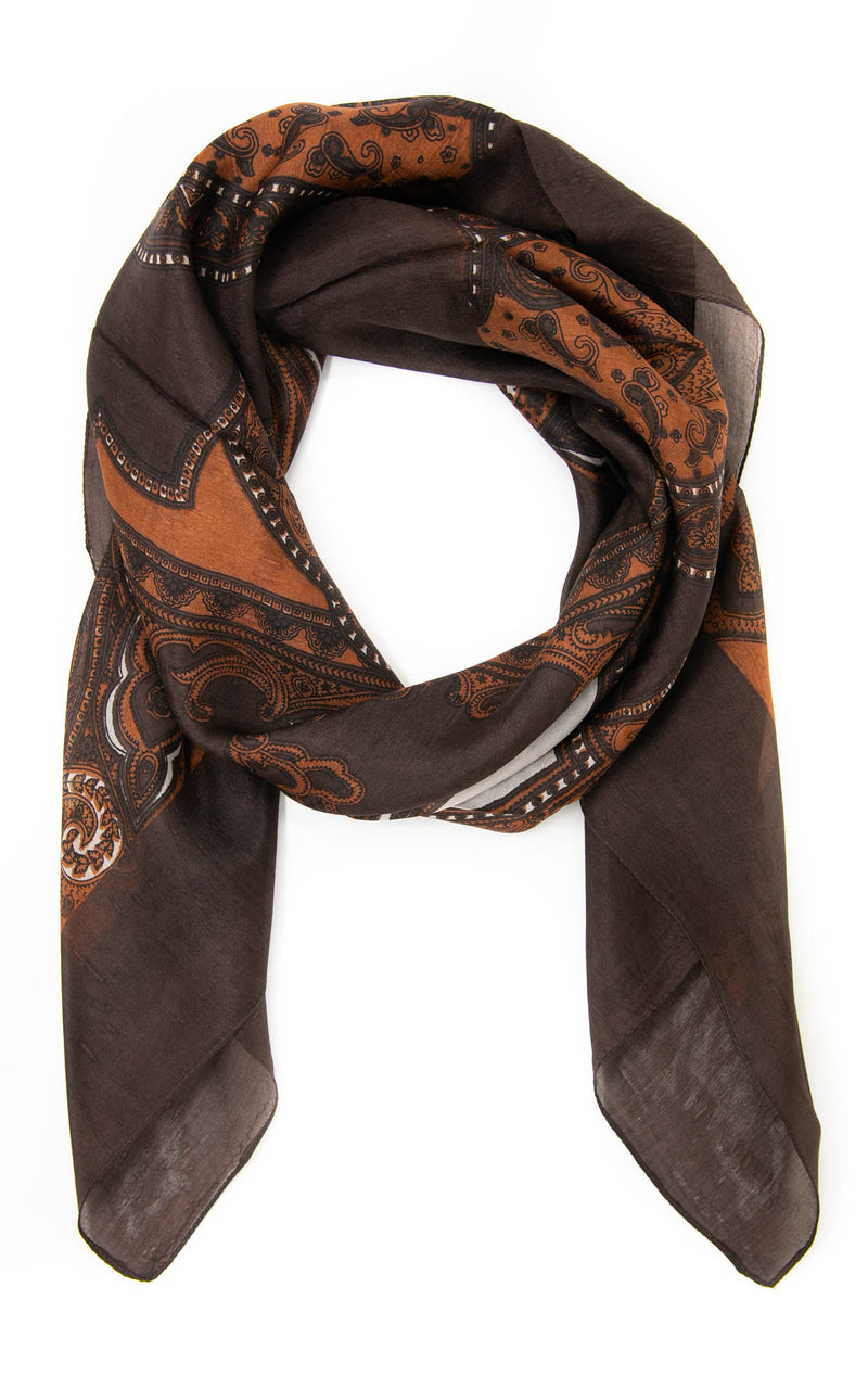 Ethel square silk scarf-SQ2011