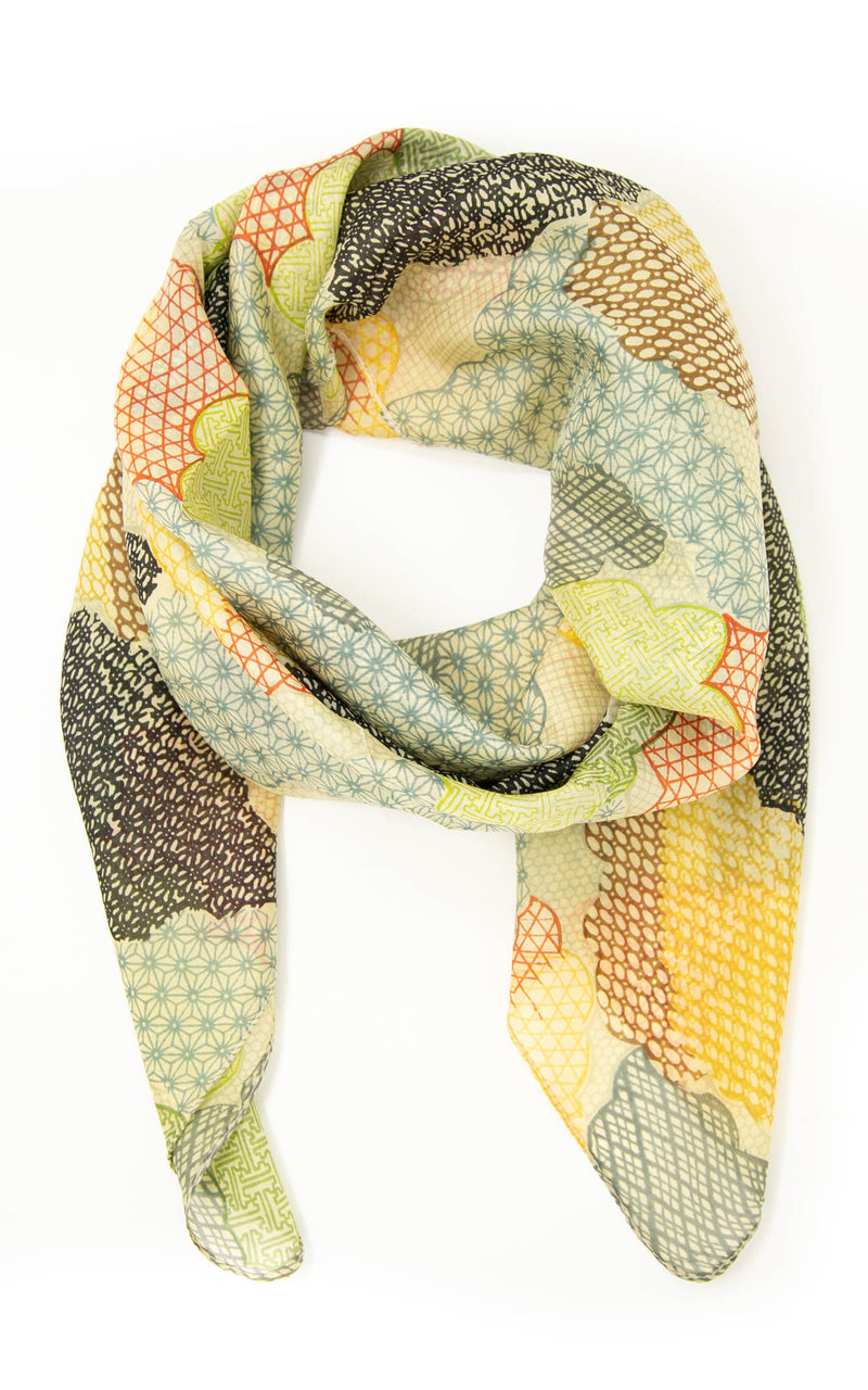 Emmeline square silk scarf -SQ2012, The Little Tibet