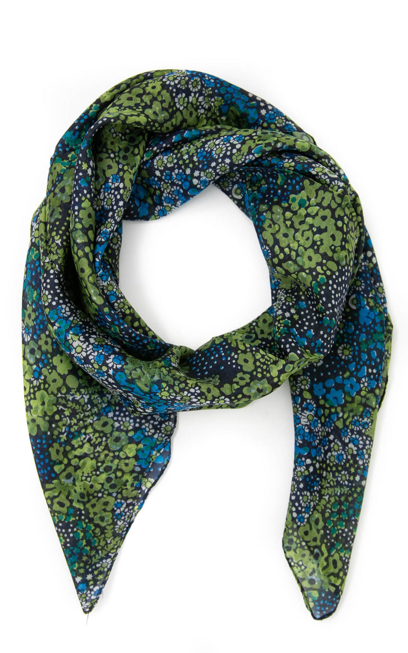 Doris square silk scarf -SQ2014, The Little Tibet
