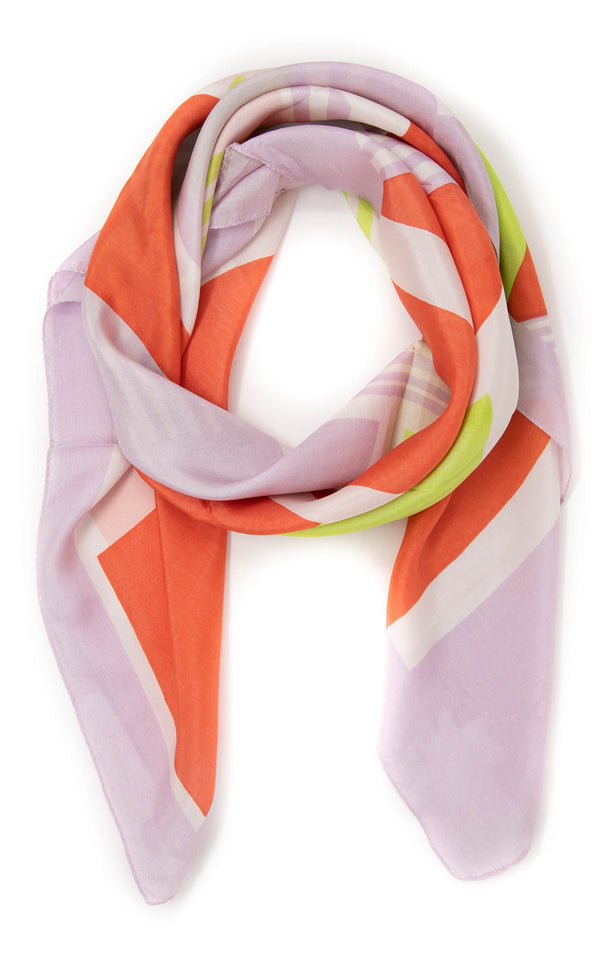 Clementina square silk scarf -SQ2015, The Little Tibet
