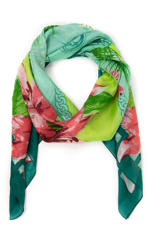 Hilda square silk scarf-SQ2019