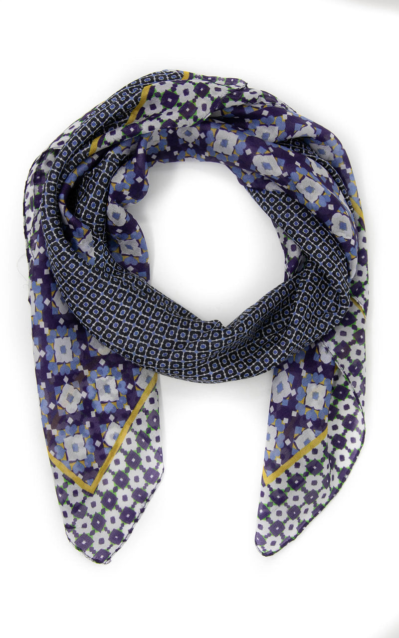 Louisa square silk scarf -SQ2025, The Little Tibet