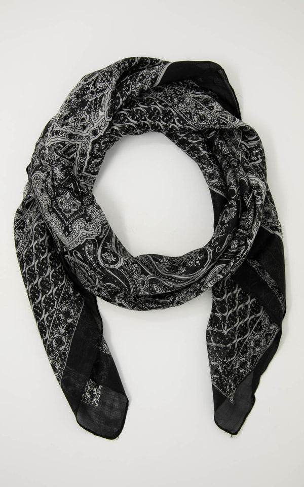 Minnie square silk scarf-SQ2027