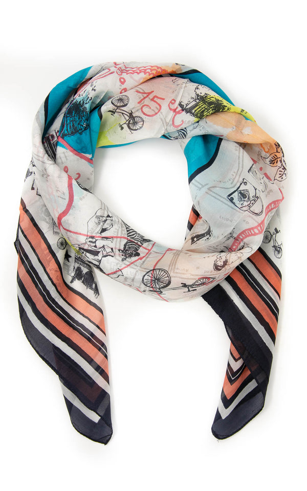 Grace square silk scarf-SQ2031