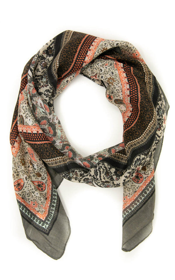 Jessie square silk scarf - SQ2040, The Little Tibet