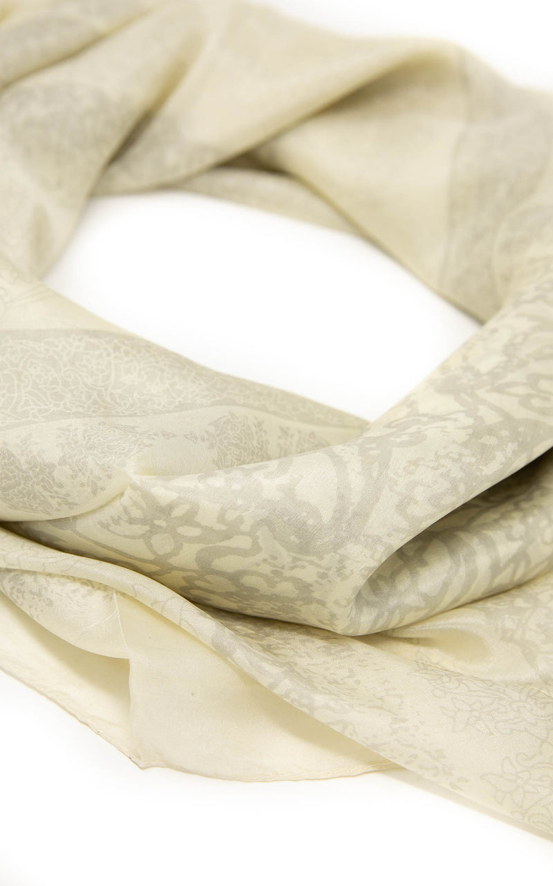 Iris square silk scarf -SQ2043