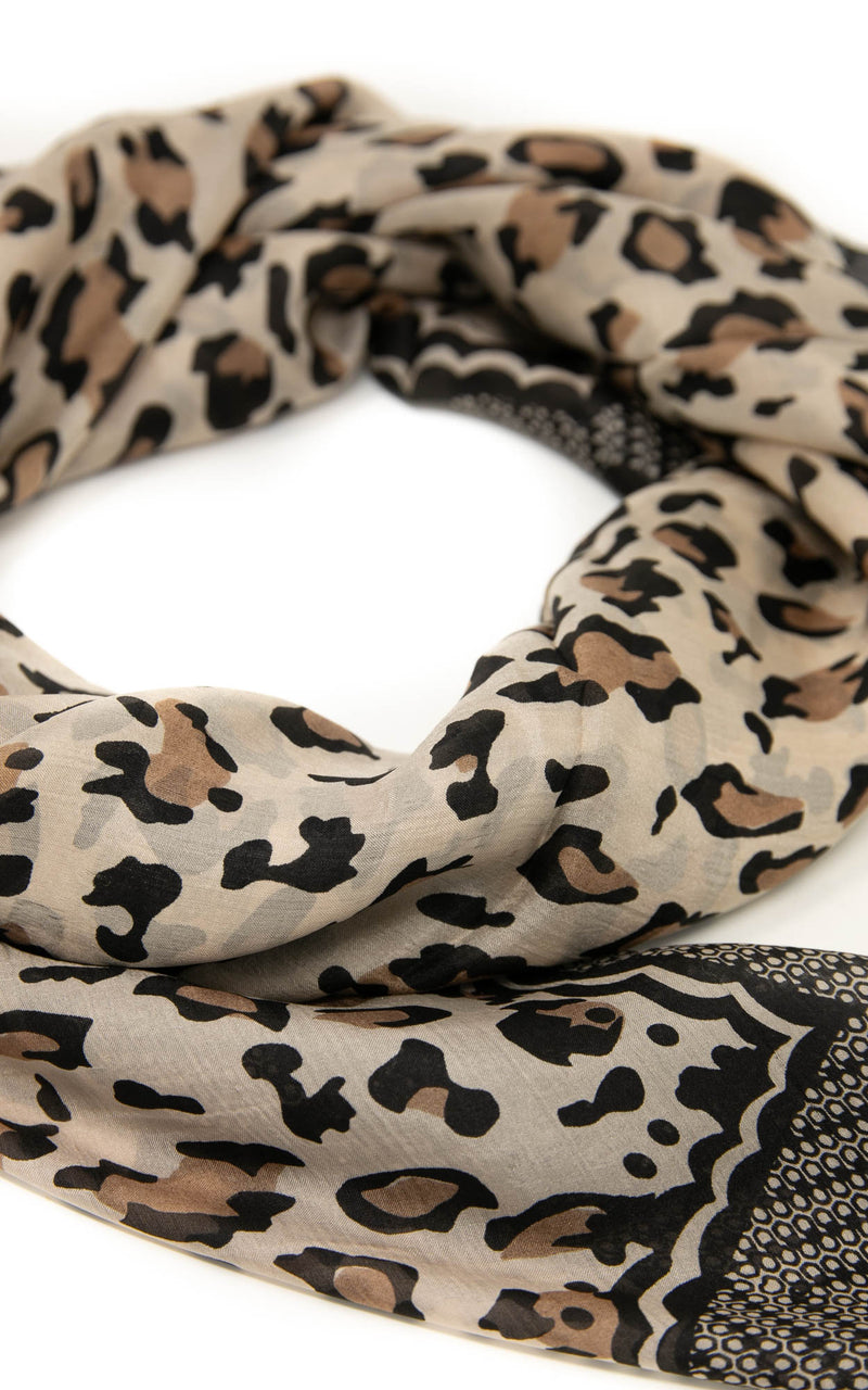 Mercy square silk scarf - SQ2043A, The Little Tibet