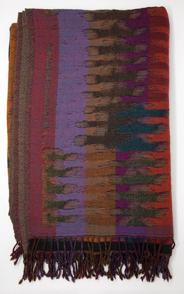 Horizon Boiled Wool Blanket-(BW114), The Little Tibet