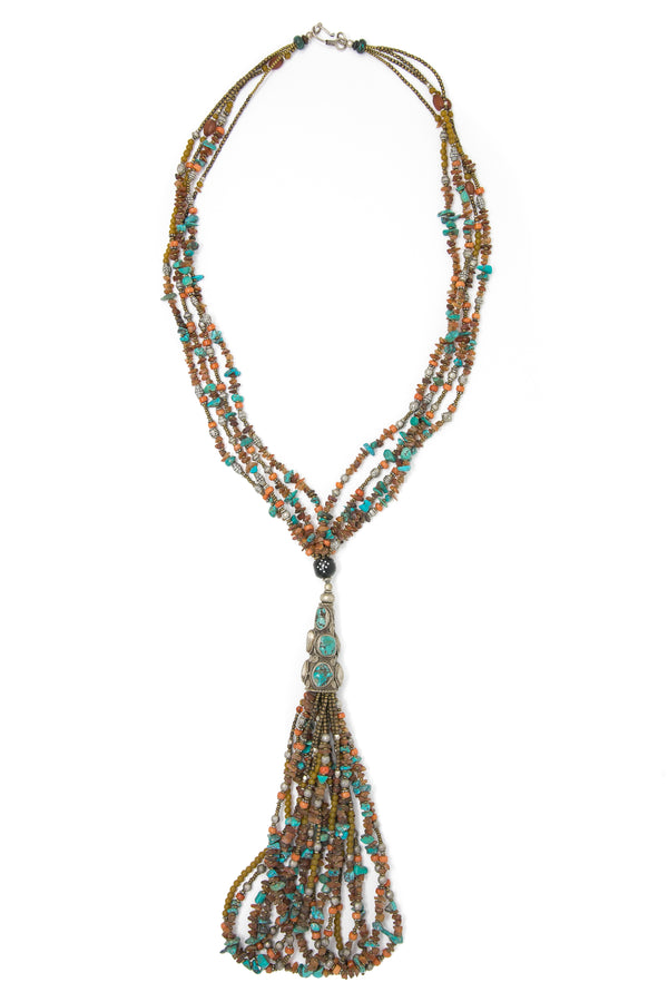 Nellie Tassels Beaded Necklace