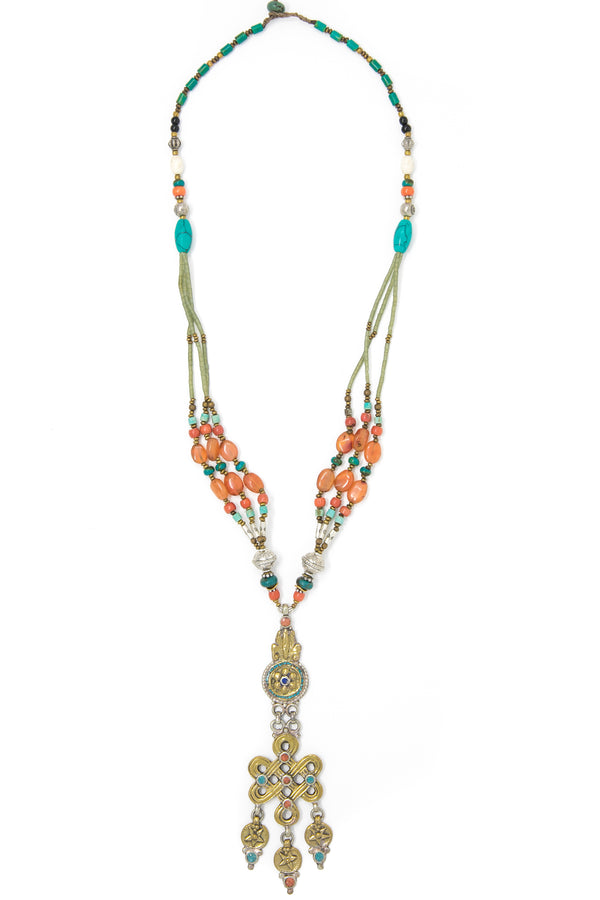 Kathleen Hand beaded Necklace, The Little Tibet