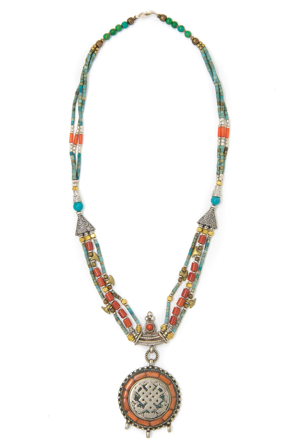 Martie Hand beaded Necklace, The Little Tibet