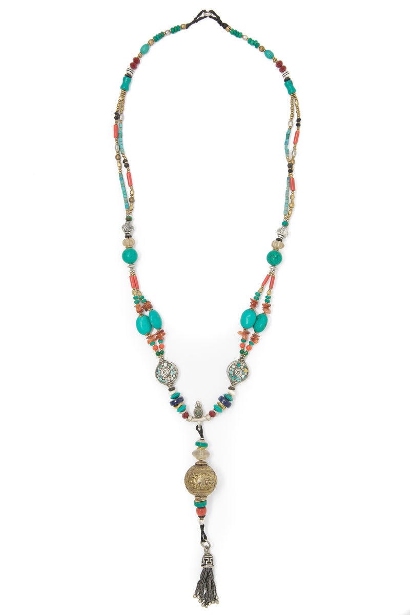 Maisie Beaded Long Necklace