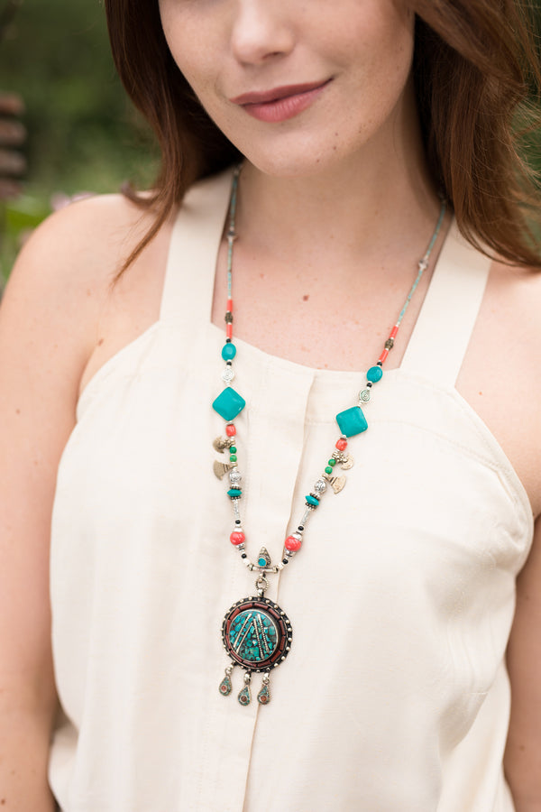 Rosie Beaded Long Necklace
