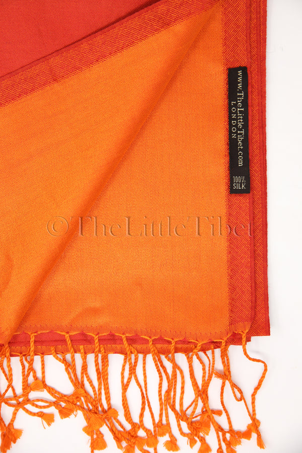 Cathy Orange Silk Scarf - TTM280