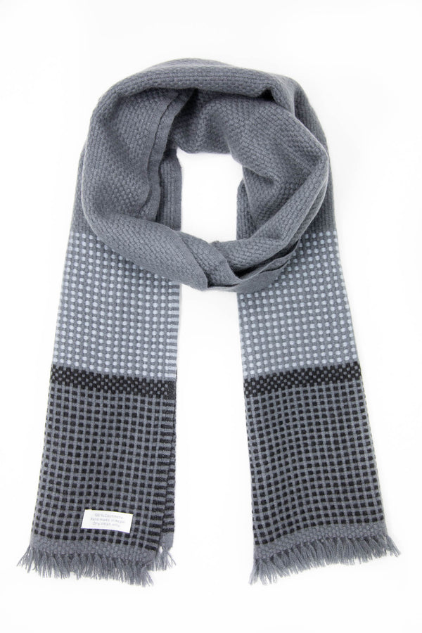 Grey Cashmere Handloom Muffler, The Little Tibet