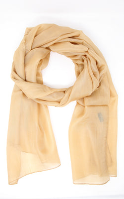 Vibrant  Gold stylish soft and lightweight 100% silk  scarf