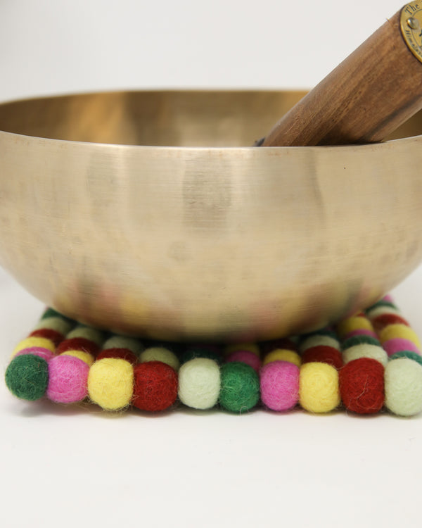 Tara Felt ball cushion for Singing Bowls -A03