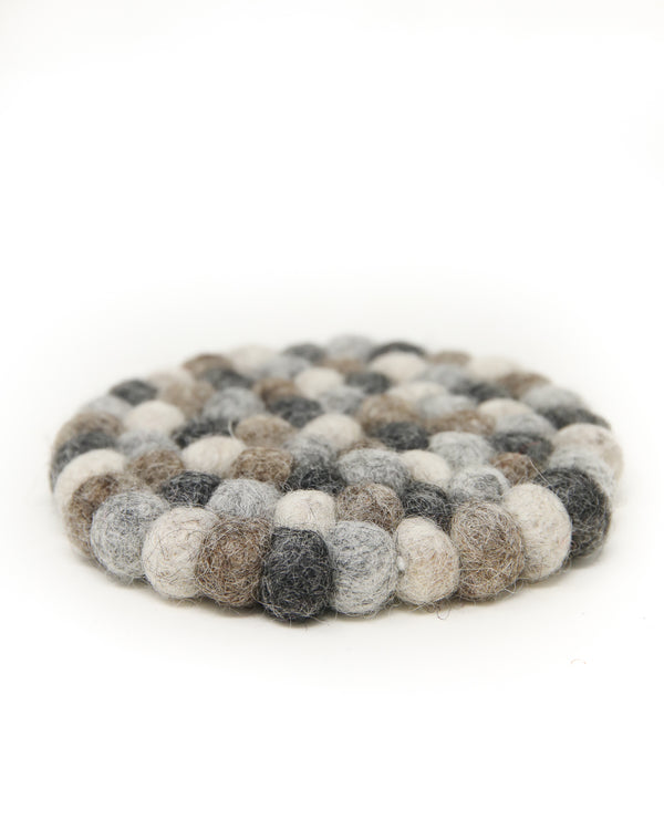 Grey shade Felt ball cushion for Singing Bowls -A07