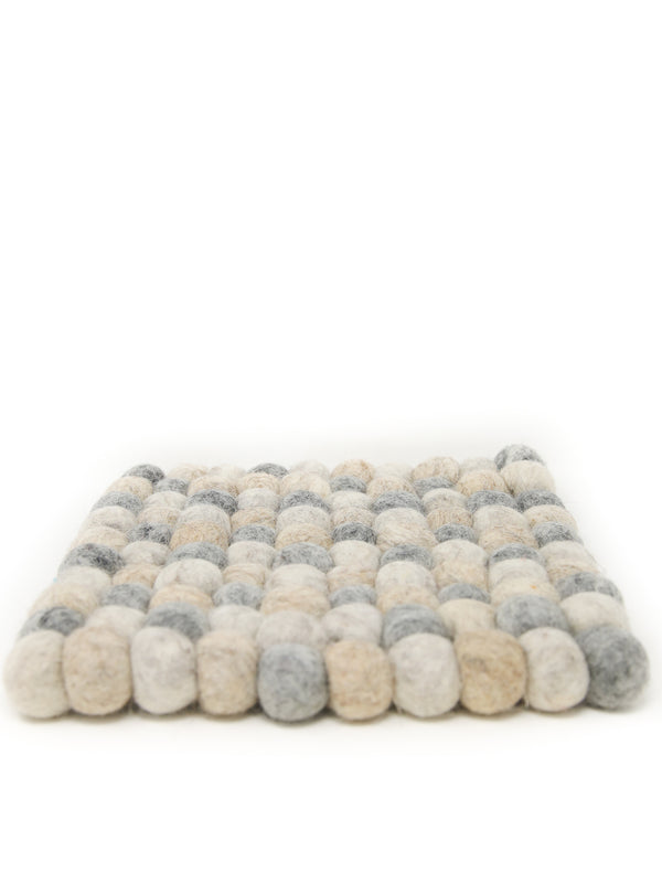 felt cushion for singing bowls, felt cushion or coaster, made of woollen felt balls, made in Nepal