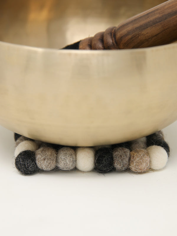 Square gray felt ball cushion for Singing Bowls -A06