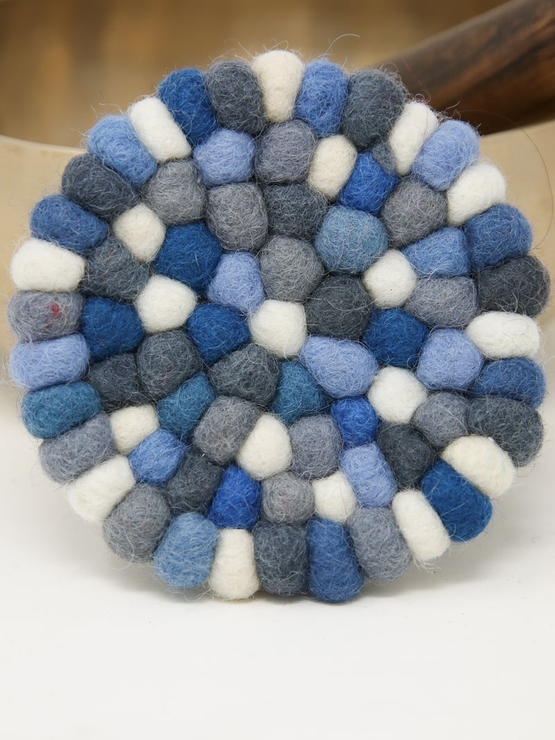 Handmade woollen felt ball cushion for Singing Bowls -A08