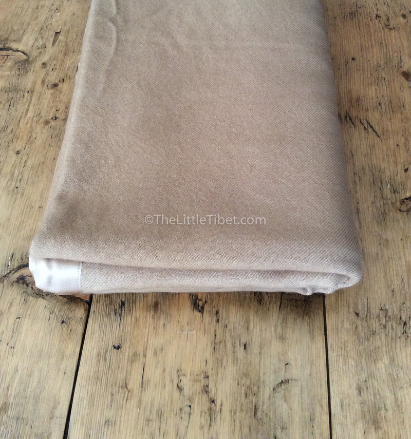 Camel coloured Mongolian cashmere deluxe 100% pure cashmere blanket sofa throw