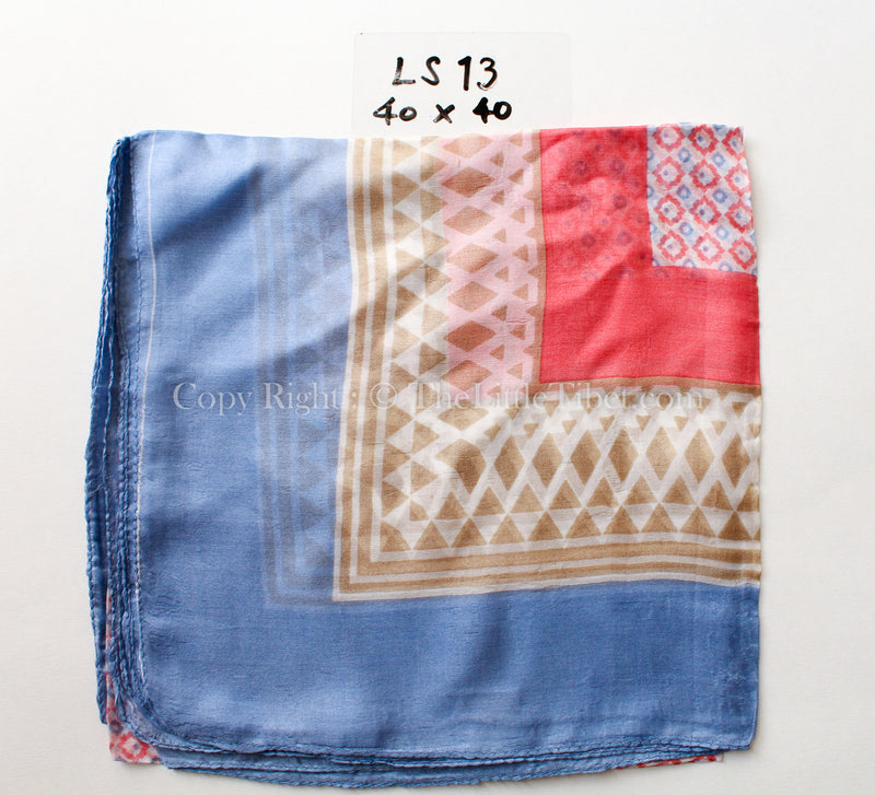 Soft Palette Square Silk Scarf, The Little Tibet