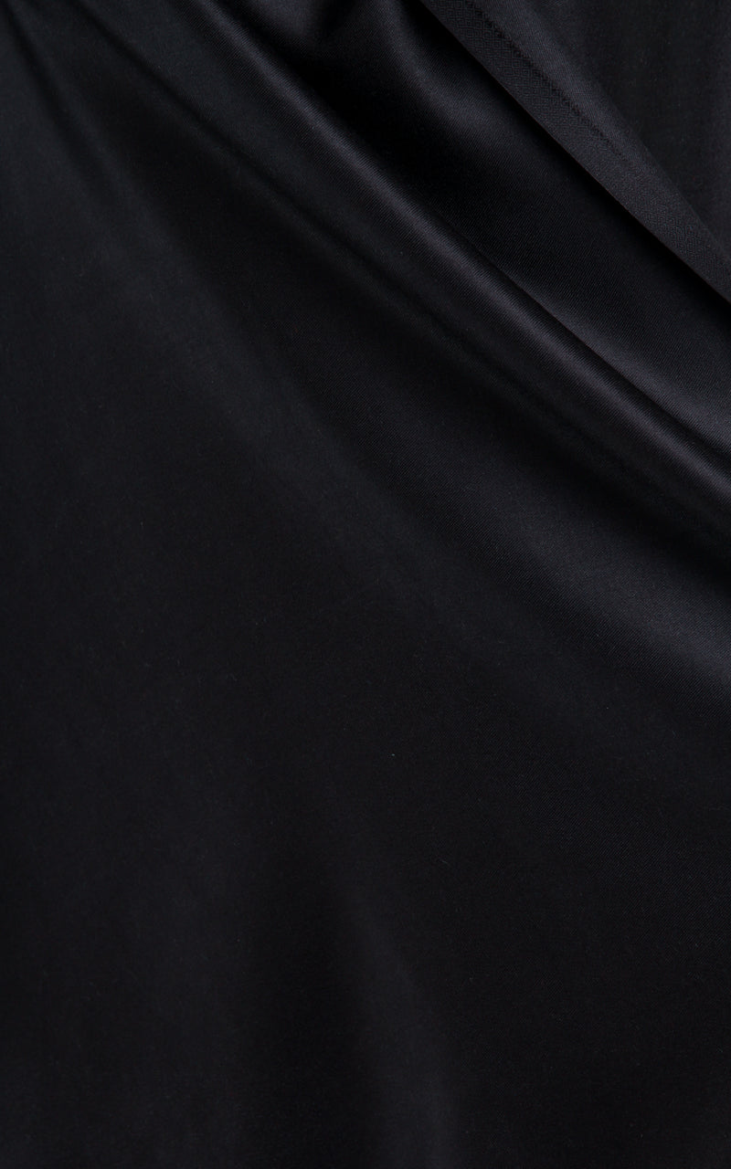 Luxury 100% pure silk black reversible pashmina close up