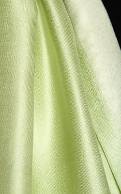 Luxury 100% pure silk  lime  green reversible pashmina close up