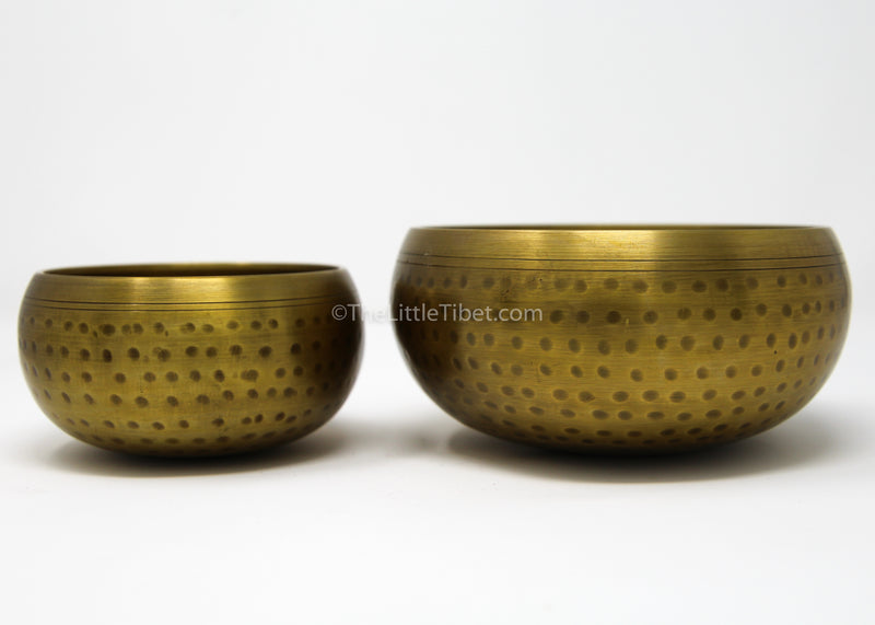 large medium gold brass singing bowl sound therapy chakra realigning himalayan instrument